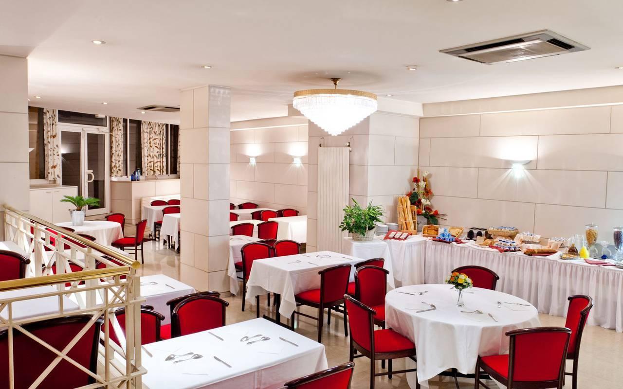 Breakfast buffet, hotel Lourdes, Hôtels Vinuales