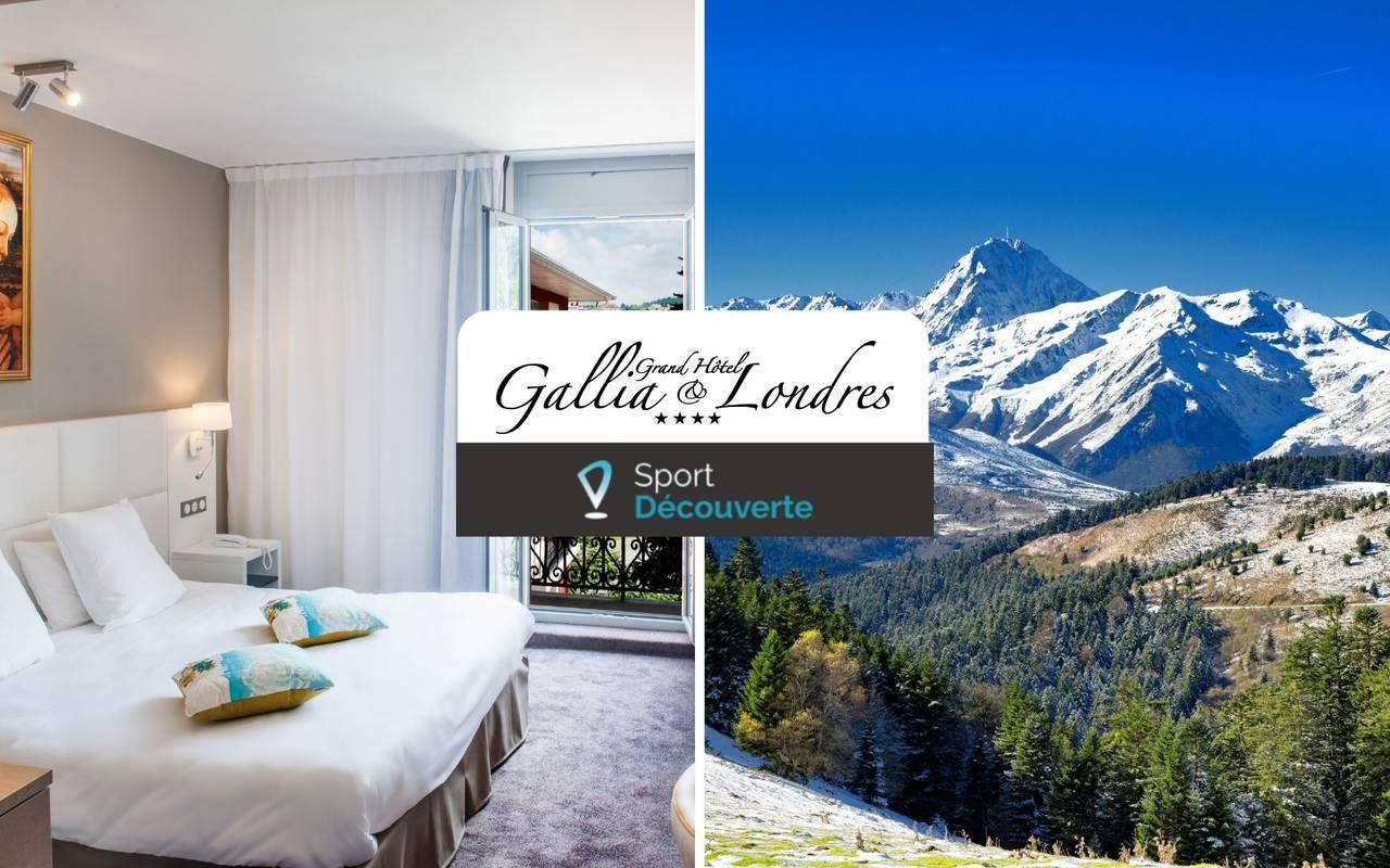 Room and mountain, spa hôtel Hautes Pyrénées, Hôtel Gallia Londres