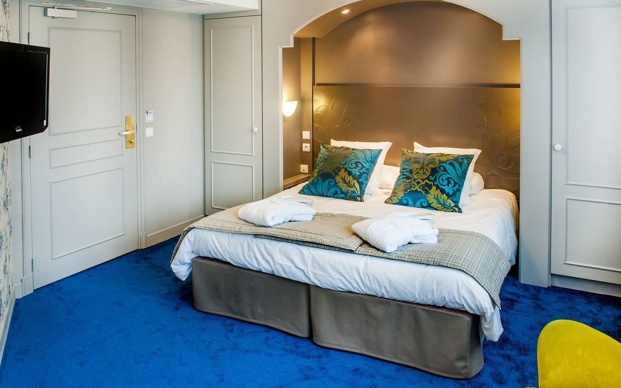 Chambre moderne, hôtel 4 étoiles Lourdes, Hôtel Gallia Londres