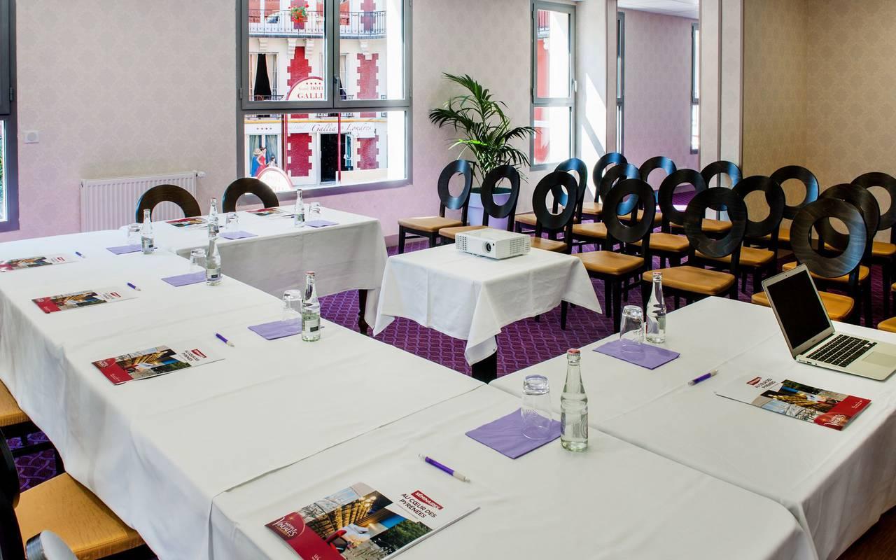Salle de réunion professionnelle, séminaire Lourdes, Hôtel Gallia Londres
