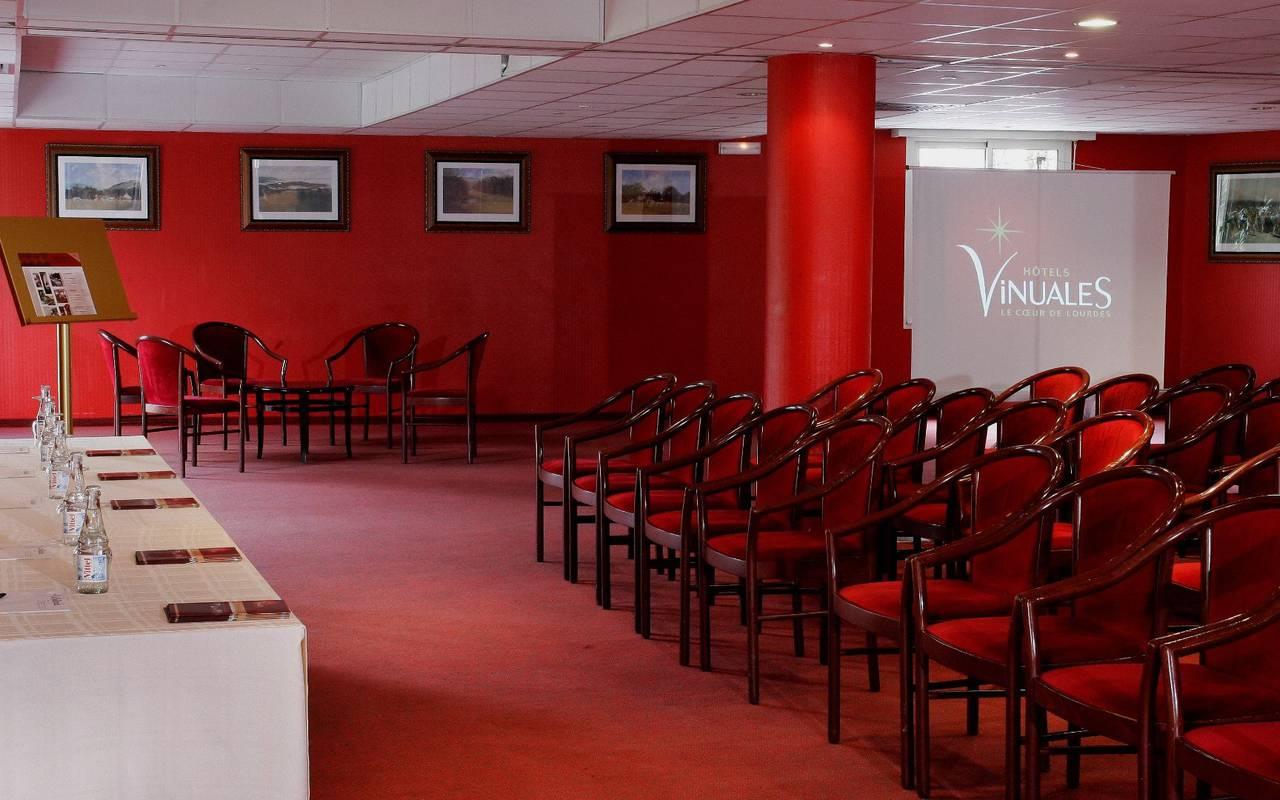 Salle de réception, séminaire Lourdes, Hôtels Vinuales